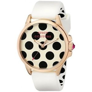 nwot juicy couture jetsetter 38mm polka dot watch